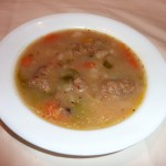 A bowl of vegetarian gluten free irish stew