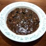 A bowl of mushroom gravy