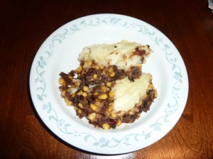 A dish of vegetarian shepherds pie
